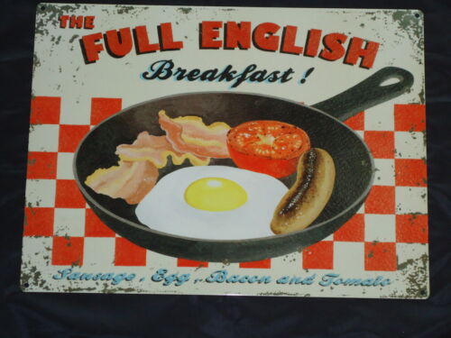 THE FULL ENGLISH BREAKFAST METAL SIGN PLAQUE SAUSAGE EGG BACON TOMATO / B&B FOOD