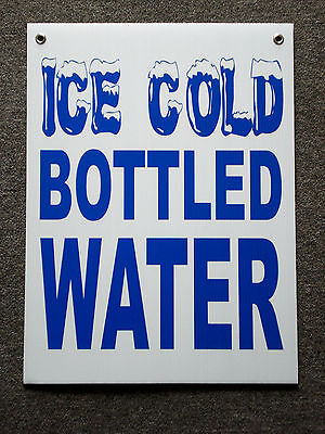 ICE COLD BOTTLED WATER Coroplast Window SIGN 18 x 24 NEW
