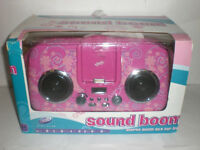 Girl Gear Sound Boom Stereo Boom Box For Ipod Pink Floral Design