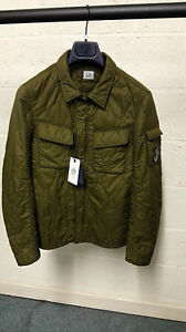 CP-Company-Garment-Dyed-Quilted-Overshirt-Jacket-Green-BNWT