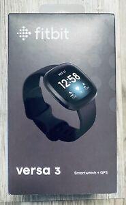 Fitbit Versa 3 Health & Fitness GPS Smartwatch Black Case / Black Infinty Band