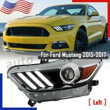 For 2015 2017 Ford Mustang Hid Xenon Led Tube Projector Headlight Driver Side Lh Fits Mustang