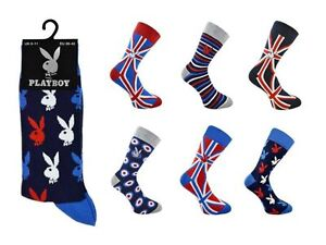 Herren Playboy offizielle Union Jack Playboy Socken 6 11 | eBay