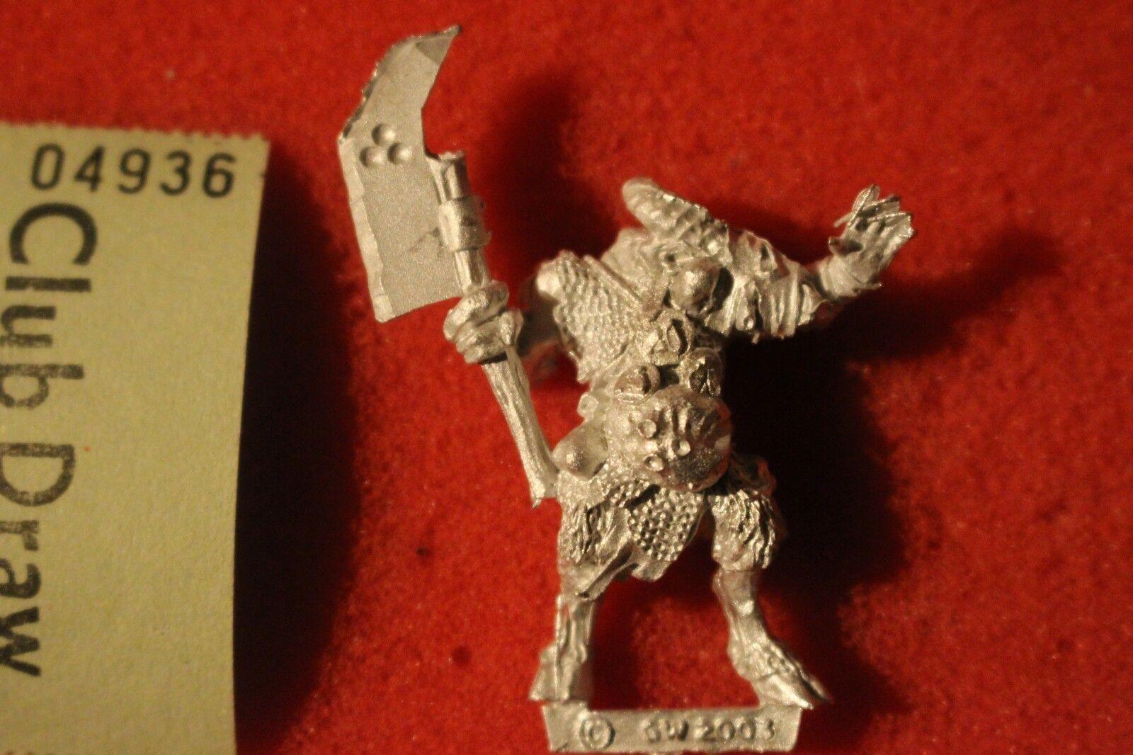 Games Workshop Warhammer Pestigors Champion Pestigor Beastmen Nurgle New Metal