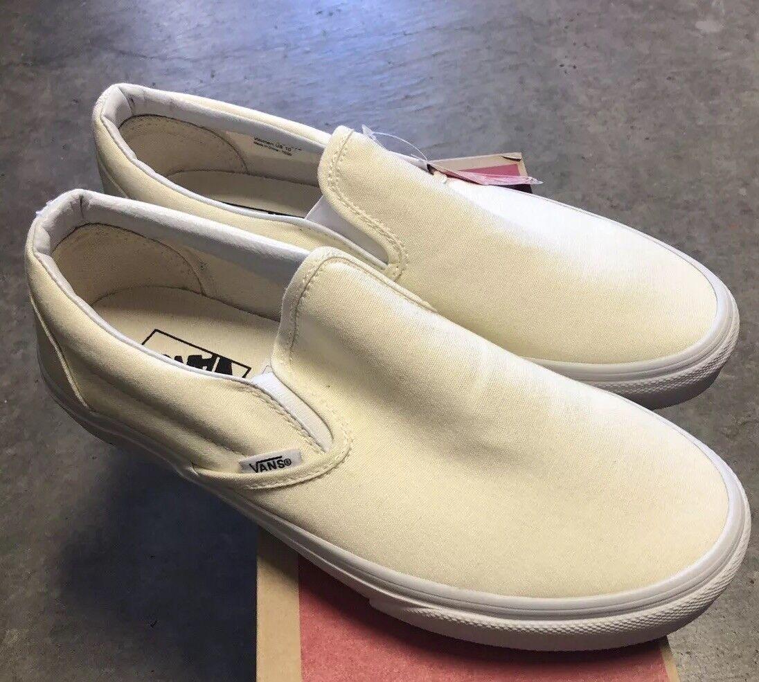 Vans Classic Slip On White Sz 5.5 NIB