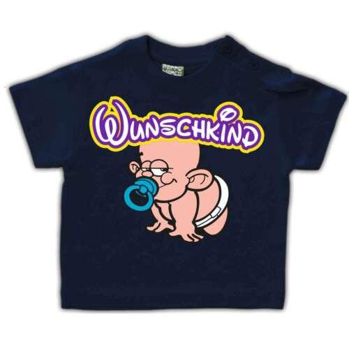 Baby Kinder T-Shirt WUNSCHKIND Geschenk Geburt Nachwuchs Spaß Größe 62-104