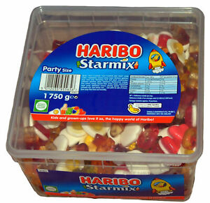 Haribo-Starmix-Drum-Tub-Kids-Party-Mix-Candy-Retro-Jelly-Sweets-Big-Pack-1-75Kg