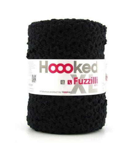 marrón textil Garn/' nuevo algodón gris rosa azul Hoooked /'fuzzilli XL negro blanco