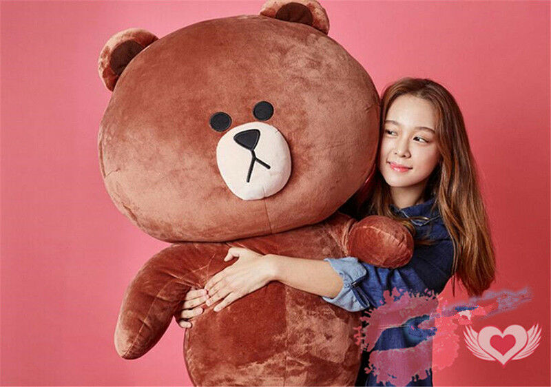 Details about Giant Big Huge Japan Line Friends Brown Bear plush Soft Toys  doll kids Xmas gift b5950e3585