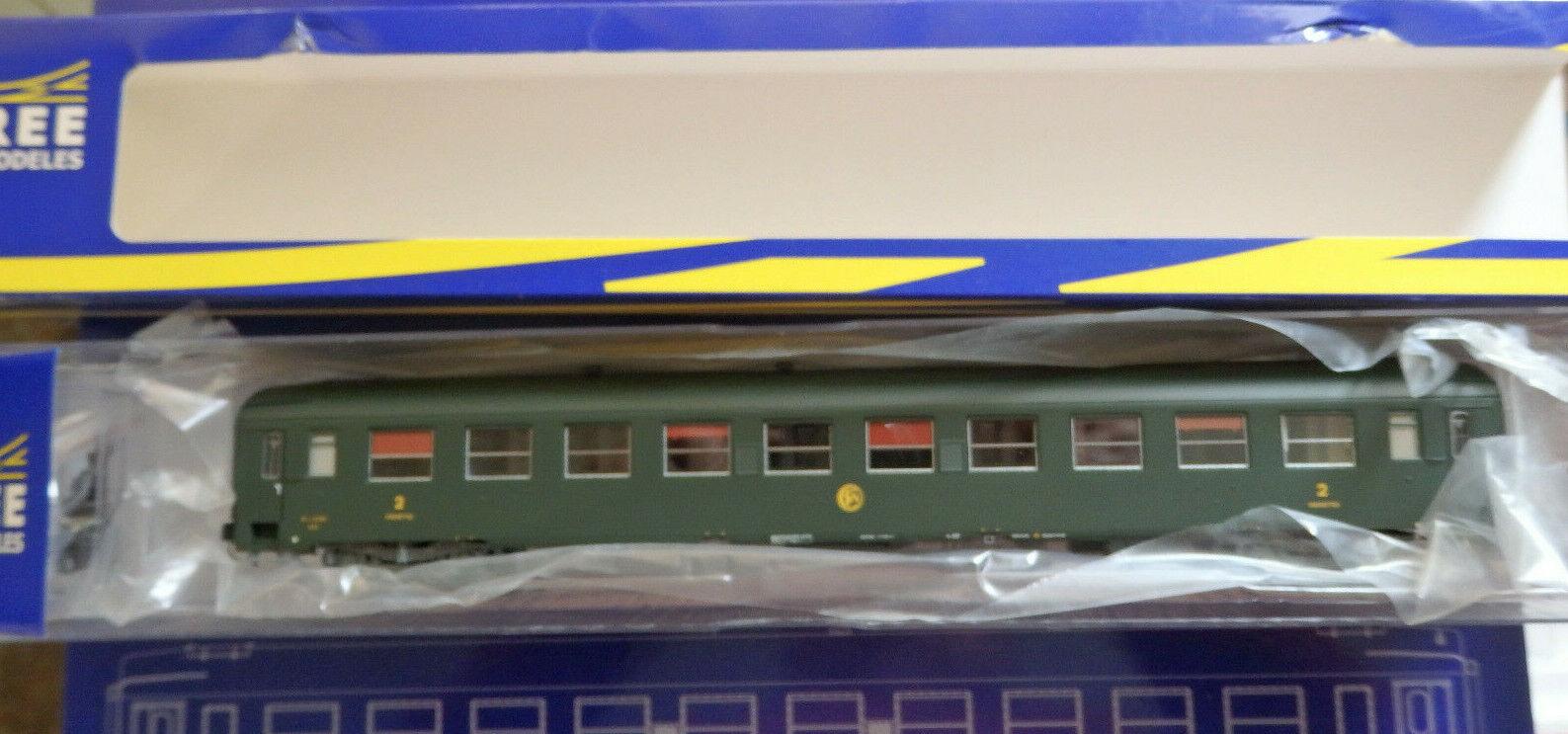 REE Modeles VB-171 CUCCETTE SNCF UIC-Y B9c9 livrea verde 301, telaio grigio, log