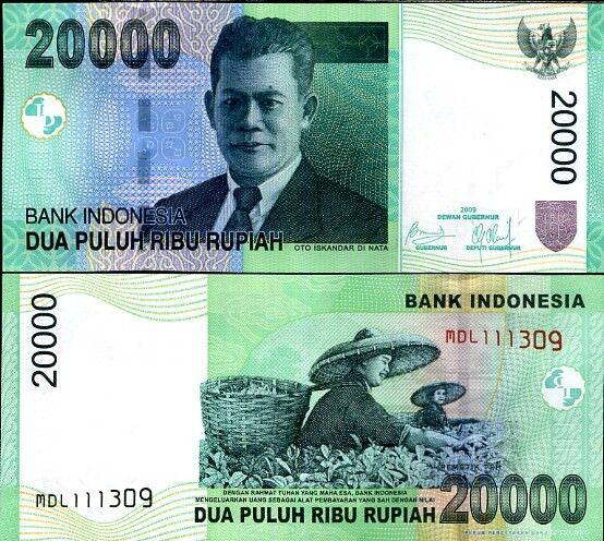 INDONESIA 20,000 20000 RUPIAH 2009/2004 P 144 UNC