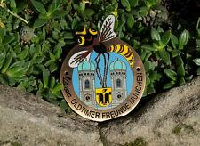 VERY NICE VINTAGE ENAMEL SCOOTER BADGE # VESPA OLDTIMER FRIENDS MUNICH BAVARIA
