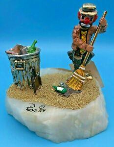 1984 Ron Lee Clown Trash Can-Broom~Dust Pan ~ RUFUS & HIS REFUSE #343