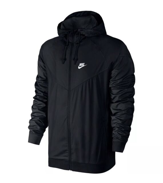 Nike Sportswear Windrunner Jacket Men s Sz Large L Black 727324 010 ... 5f3821e01