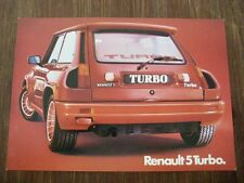 Renault R5 Turbo Mittelmotor mid engine Prospekt brochure Depliant prospectus