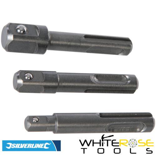 Silverline Sds Plus Adaptateur Prise Conducteur Set 0.6cm 1cm 1.3cm Perceuse 3pc