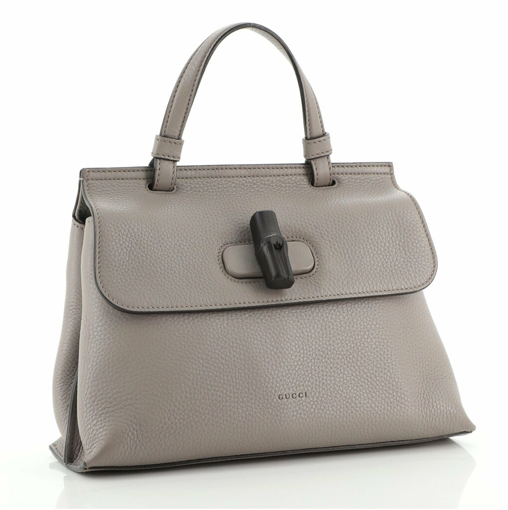 Gucci Bamboo Daily Top Handle Bag Leather Small    eBay