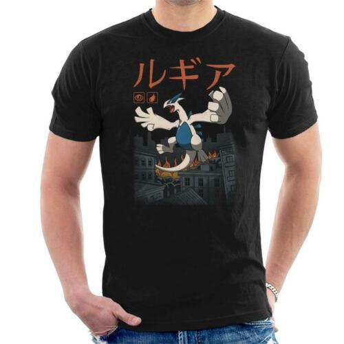 Legendary Psychic Flying Kaiju Lugia Pokemon Men/'s T-Shirt