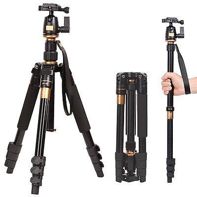 Q555 Travel Camera Tripod Monopod Ball Head Universal For Nikon Canon DSLR SLR