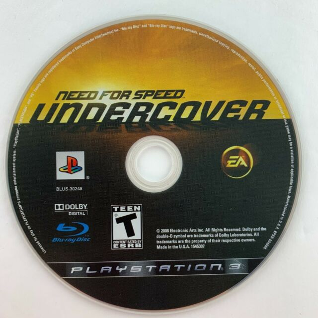 Disc only - Need for Speed: Undercover (Sony PlayStation 3, 2008)