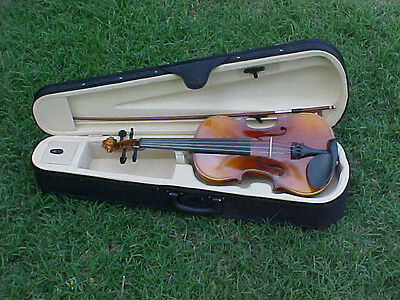 NEW 4/4 FLAMED ADULT SIZE CAJUN BLUEGRASS FIDDLE/VIOLIN