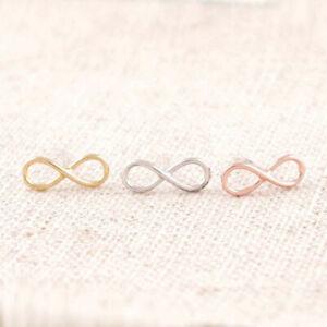 Infinity-Ohrstecker-Ohrringe-Unendlich-Rosegold-Matt-Filigran-Minimal