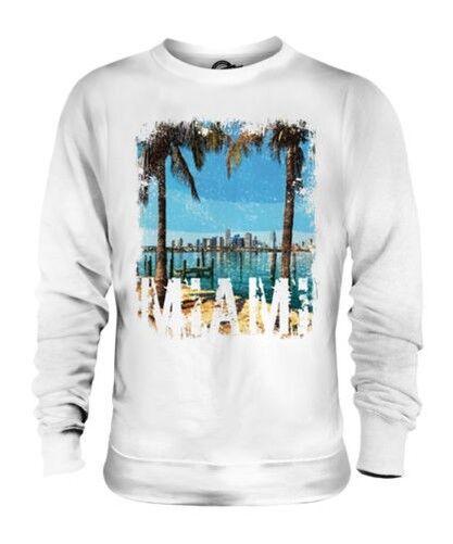 Miami Grunge Estampado Unisex Suéter Swag Playa Top Florida Vestido Manga Larga