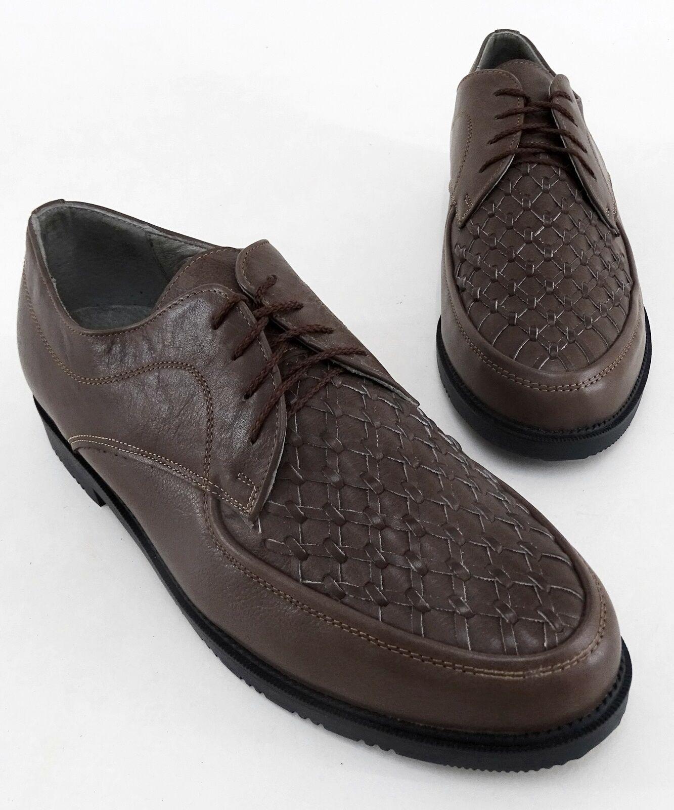 Lacets VALor Chaussures Basses Affaires Véritable Cuir Marron Taille 45