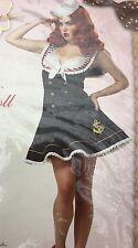 Adult Costume XL 12-14 Nautical Doll Sexy Shipmate California Costume Eye Candy