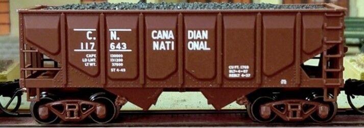 Scala N - 2-BAY panel-side HOPPER CANADIAN NATIONAL 2 pezzi 62092 NEU