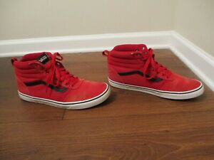 Used Worn Size 13 Vans OTW Sk8 High Skateboard Shoes Red ...