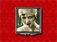 Flapper Lips Pin Up Girl Secret Vintage Makeup Pocket Compact Mirror