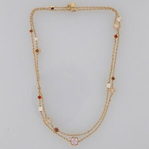 18ct-Rose-Gold-Montblanc-Cabochon-Diamond-and-Gemstone-Necklace