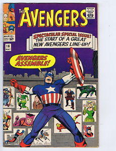Avengers #16 Marvel 1965 The Old Order Changeth ! Classic Captain America Cover
