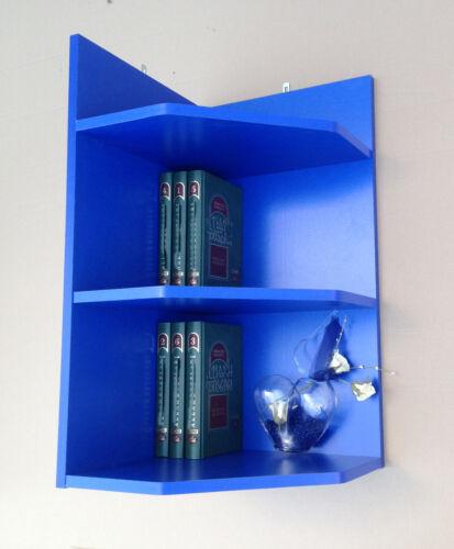 R462 Blau Eckregal Wandregal Bücherregal Regal Mod
