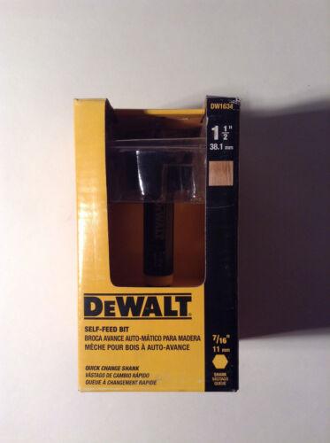 """Dewalt DW1634 1-1//2/"""" Self-Feed Wood Bit 7//16/"""" Shank"""
