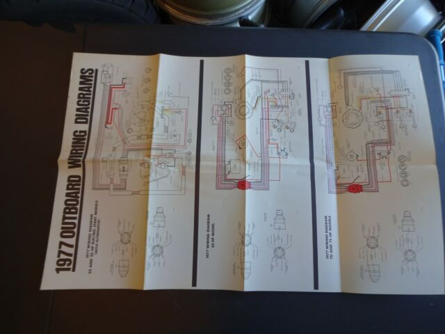 1977 Johnson Evinrude Outboard Wiring Diagram Poster Chart