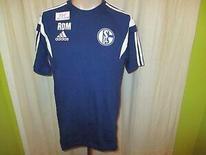 FC-Schalke-04-Original-Adidas-Trainer-Freizeit-T-Shirt-2014-15-034-RDM-034-Gr-M-TOP