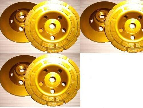 "3 Piece X 4/"" 100mm Coarse Grinding Diamond Cup Wheel Granite Concrete travertine"
