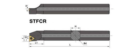 Inner Lathe Boring Bar Turning Tool for TCMT110204 S16Q-STFCR11 16mmSHK×180mm