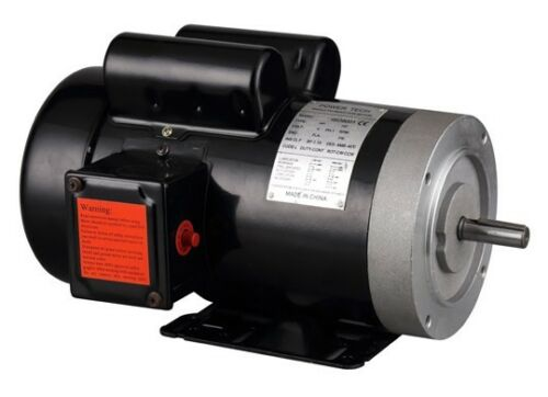 "115//230V 5//8/"" Shaft General Purpose 2HP Electric Motor 56C 1PH 1750RPM,New."