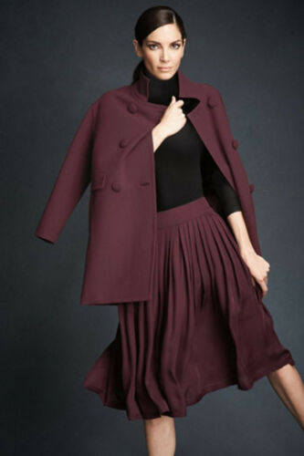 NWT Talbots WOMAN $224 Burgundy Double Breasted NO WRINKLE Dress Coat  18W  2X
