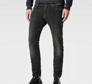 G Star Raw Attacc Super Slim Jeans Herren Schwarz Größe w34 l34 * ref42-16