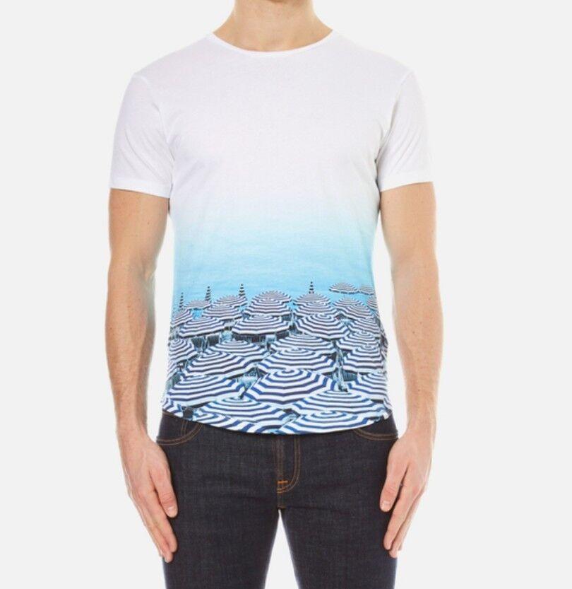 Orlebar Braun Photographic Parasol Paradise T-shirt XS New