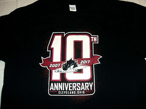 Lake-Erie-Monsters-2017-10th-Anniversary-XL-T-Shirt-Cleveland-AHL-Minor-Hockey