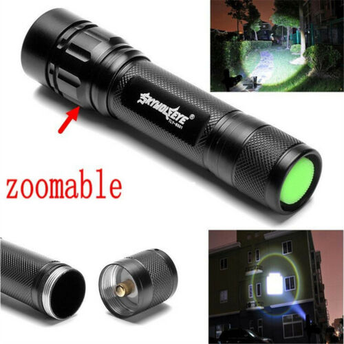 Tactical Flashlight Zoomable 20000 Lumens 3-Modes T6 LED 18650 Torch Lamp Light