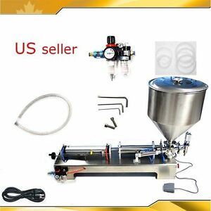 TECHTONGDA-110V-50-500ml-Paste-Shampoo-amp-Liquid-Filling-Machine-with-30L-Hopper
