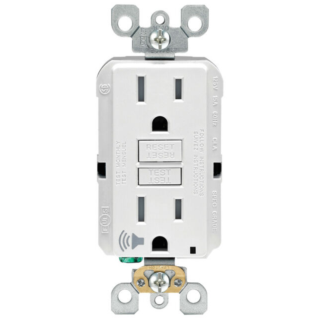 Leviton 15 Amps 125 Volt White Audible Outlet 5
