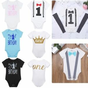 0a98d3f06d6c Baby Boys Infant My 1st Birthday Party Outfits One Year Cotton ...