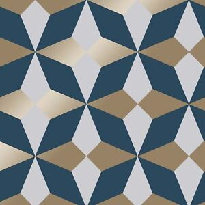 Marine-Dore-Nova-Papier-Peint-Geometrique-par-fine-decor-FD42548-Metallique
